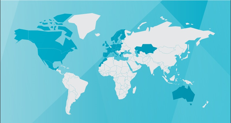 HxGN SmartNet - Satellite Positioning Services - Network Coverage Map